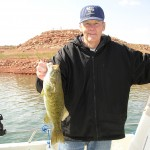 VERN with Nice Smallie at Lake Powell