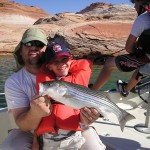 DAVE & son First striper Lake Powell