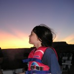 Tayler at Lake Powell-summer sunset