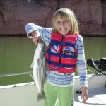 Fishing on Lake Powell is fun