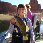GRANDDAUGHTER TAYLER - FISHING LAKE POWELL