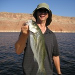 SCOTT with nice striper at Lake Powell