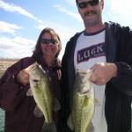 Laura and Paul with nice Lake Powell LM